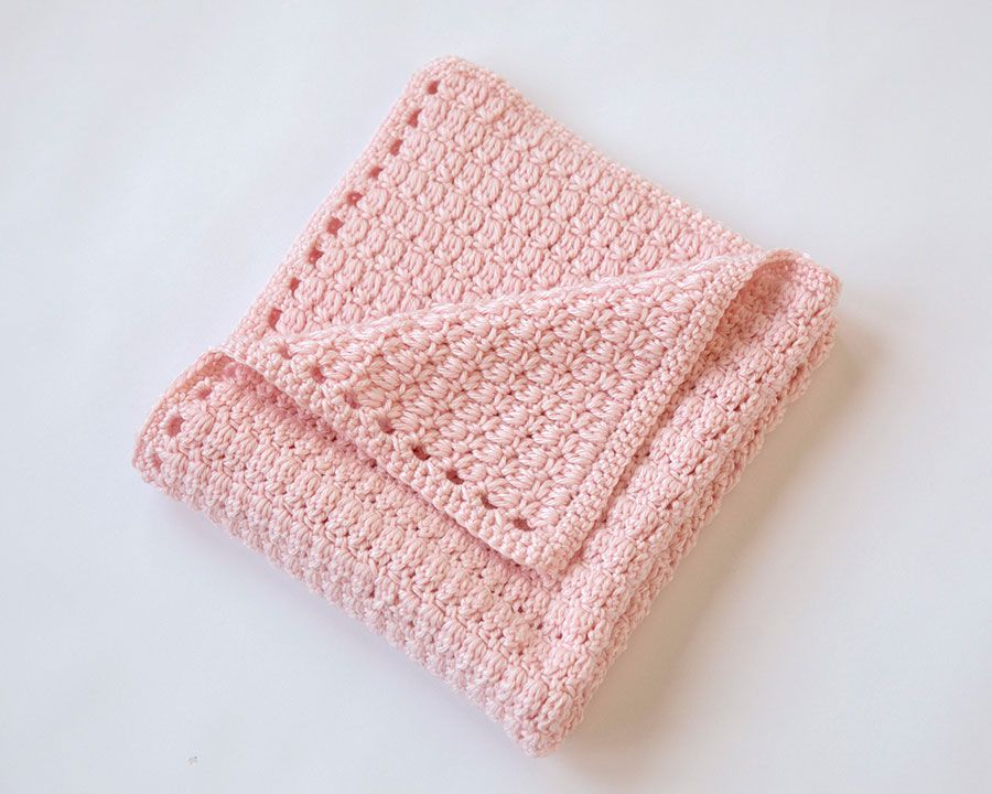This free crochet baby blanket pattern is a fun and quick project ...