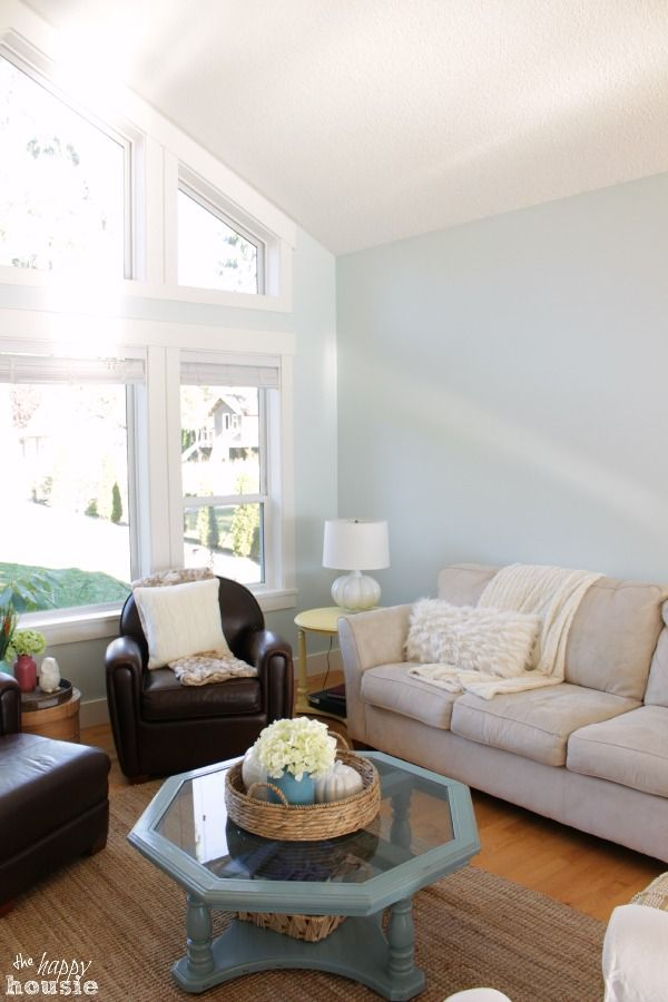 Happy Colors To Paint A Room refreshing the living room with paint {& a great trick for