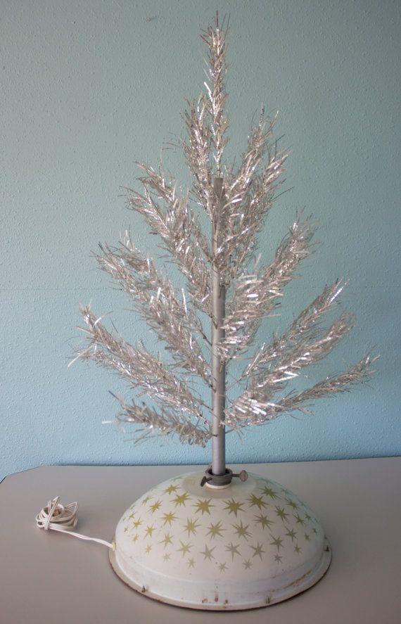 Vintage Atomic Rotating Christmas Tree Stand // Mid Century Rotating  Christmas Tree Stand