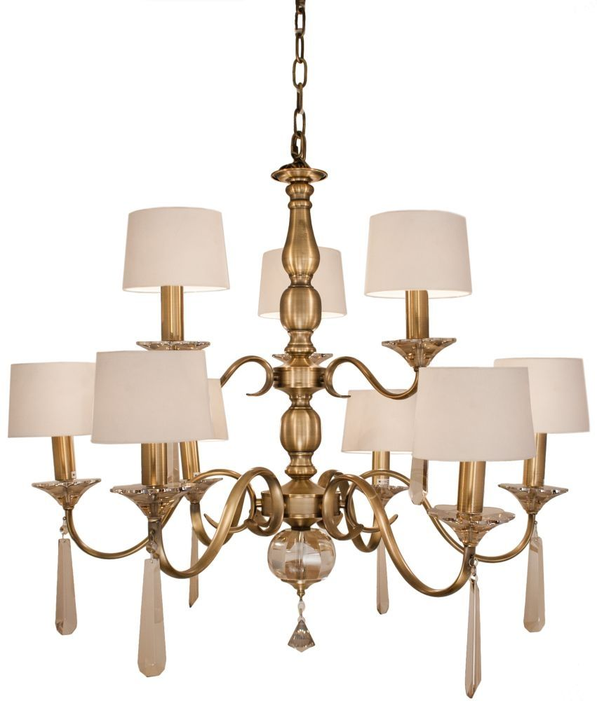 R V Astley Charon 9 Branch Antique Brass Chandelier Is A Classic
