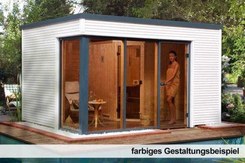 Saunahaus-Cubilis-Weka-Gartensauna-45-68mm-mit-Saunaofen-7-5kW ...