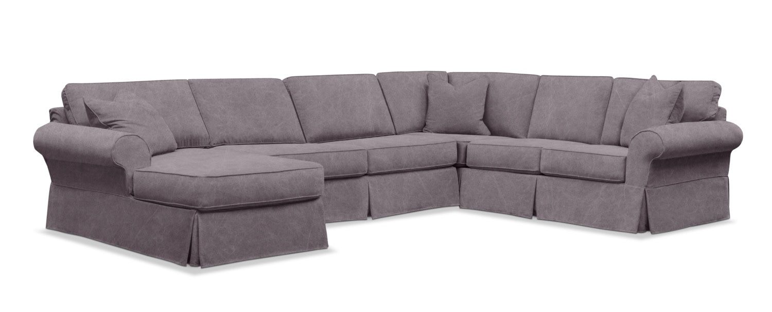 Fantastic Sawyer 3 Piece Slipcover Sectional Sofa With Right Facing Spiritservingveterans Wood Chair Design Ideas Spiritservingveteransorg
