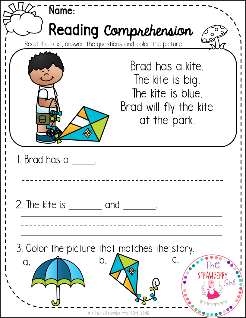 - FREE Kindergarten Reading Comprehension Passages - Spring Free