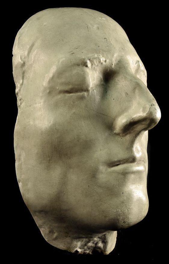 """(1720-88) Charles Edward Stuart """"Bonnie Prince Charlie"""" (Death Mask), the Alba Hussar pays homage, #comejoinourCampaign, visit jacobitetours.co.uk"""