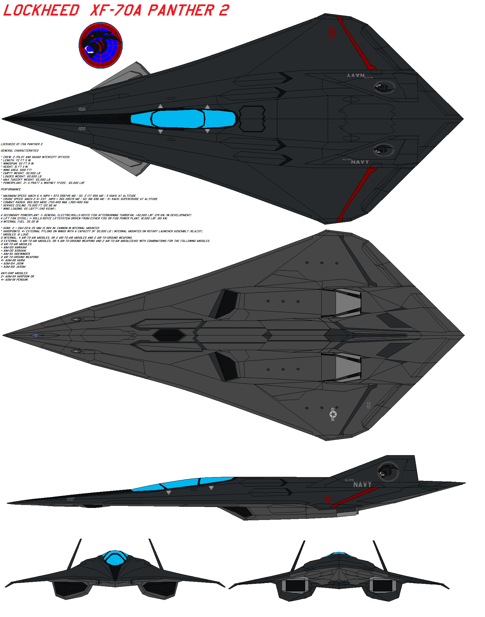 Lockheed XF70A Panther 2 by on