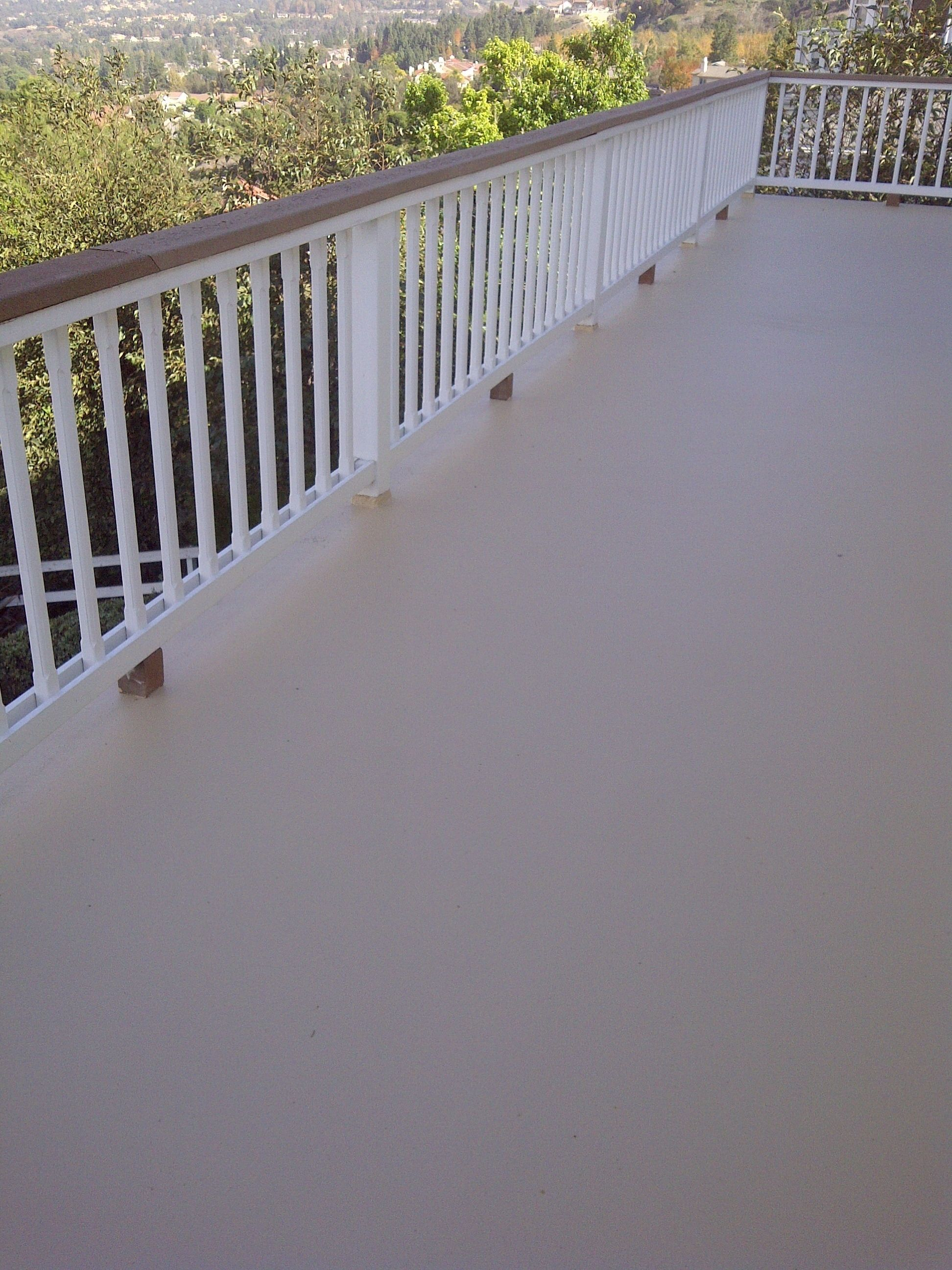 Elastomeric Waterproofing Balcony : Private residence anaheim hills ca elastomeric