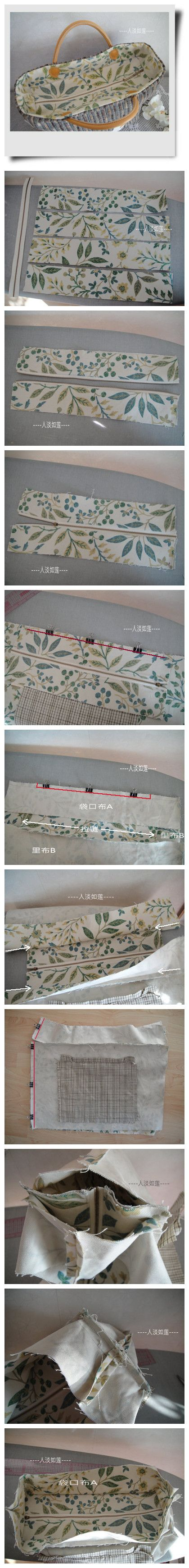 How to make a zipper top for a purse...I think
