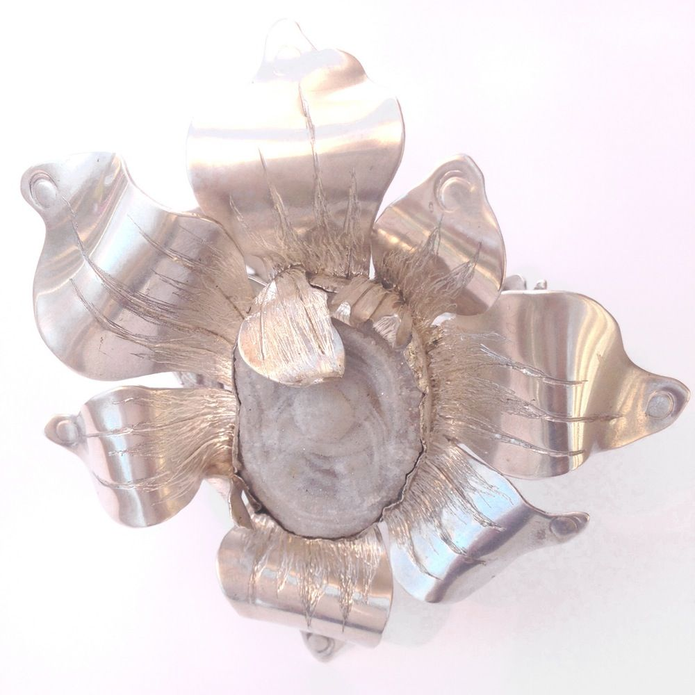 """Giving Life"" Reticulated Flower Bracelet"