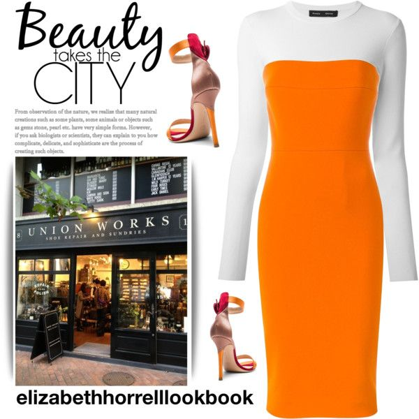 A fashion look from February 2017 by elizabethhorrell featuring Victoria Beckham, Proenza Schouler and Gianvito Rossi