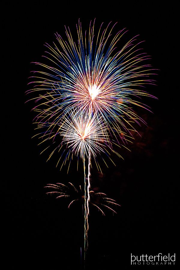 Advice and tips on how to capture fireworks every time.  Good info, camera, lenses, ISO, f stop, about the midpoint of this entry.  photographer Robert Butterfield -
