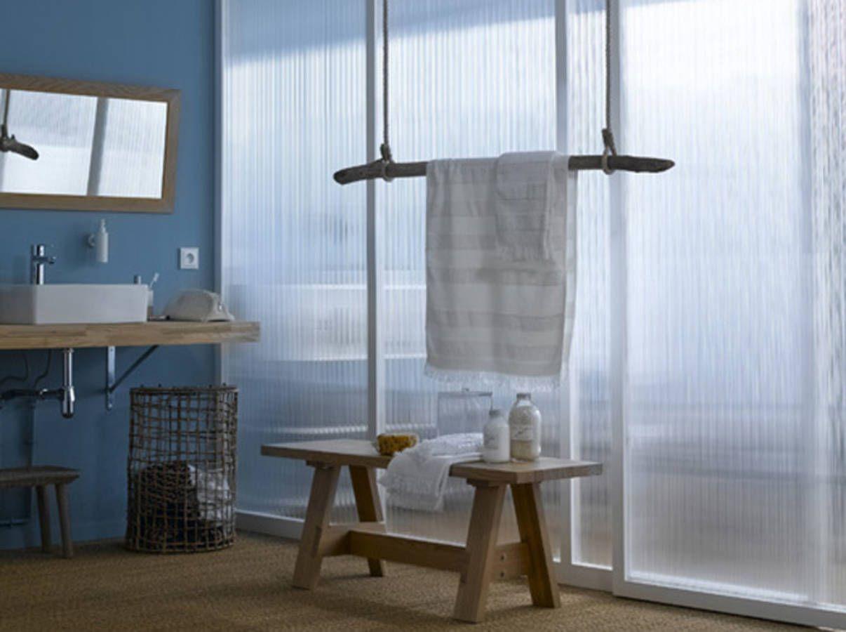 salle de bains design et récup | jonc de mer | pinterest | salle ... - Salle De Bain Jonc De Mer