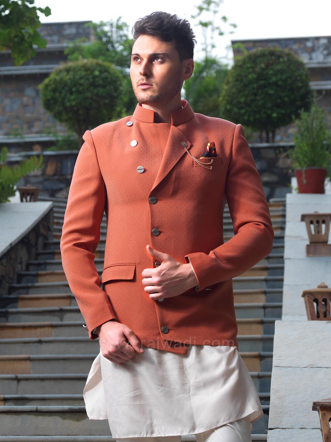 Look charming with this indo western kurta and sharwanis