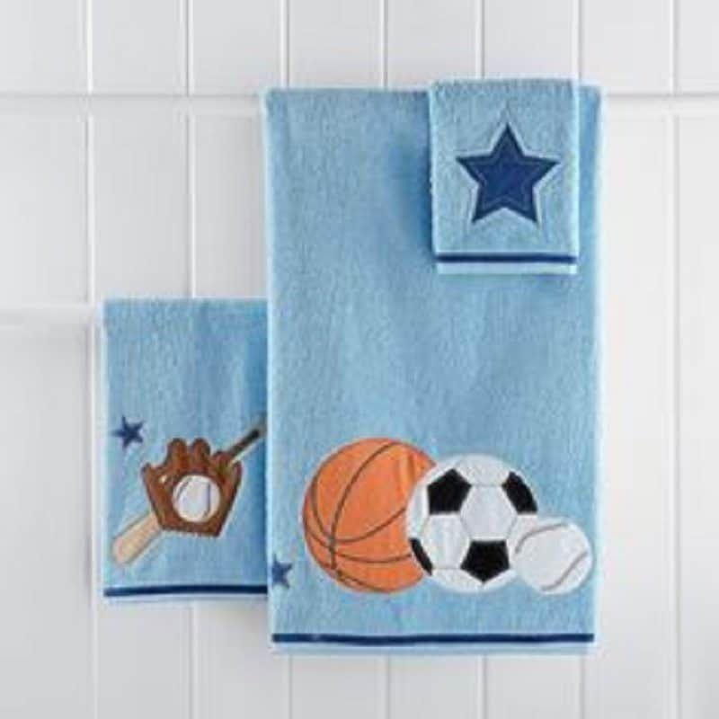 Kids Bathroom Sport Themed Towel Sets
