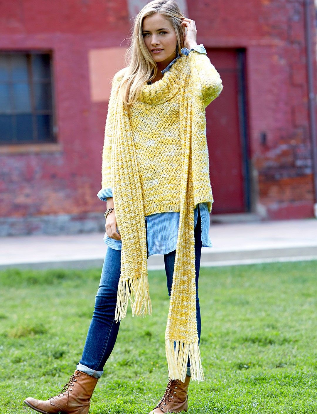 Yarnspirations.com - Patons Meridian Scarf - Patterns ...