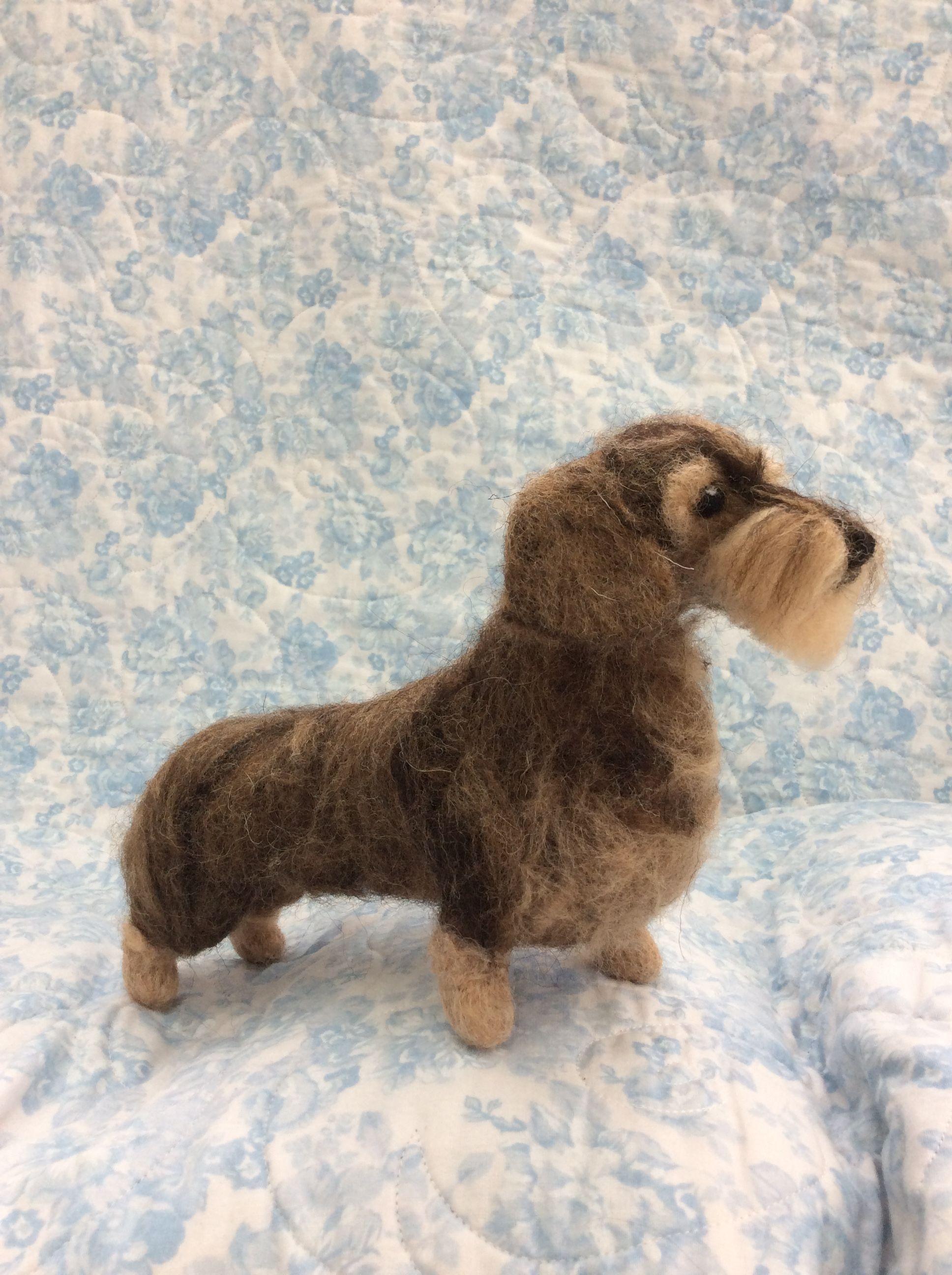 Miniature wire haired dachshund needle felted | Felt | Pinterest ...