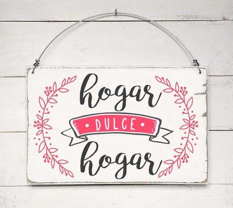 Cartel Vintage Hogar Dulce Hogar Cuadros Vintage Con Frases