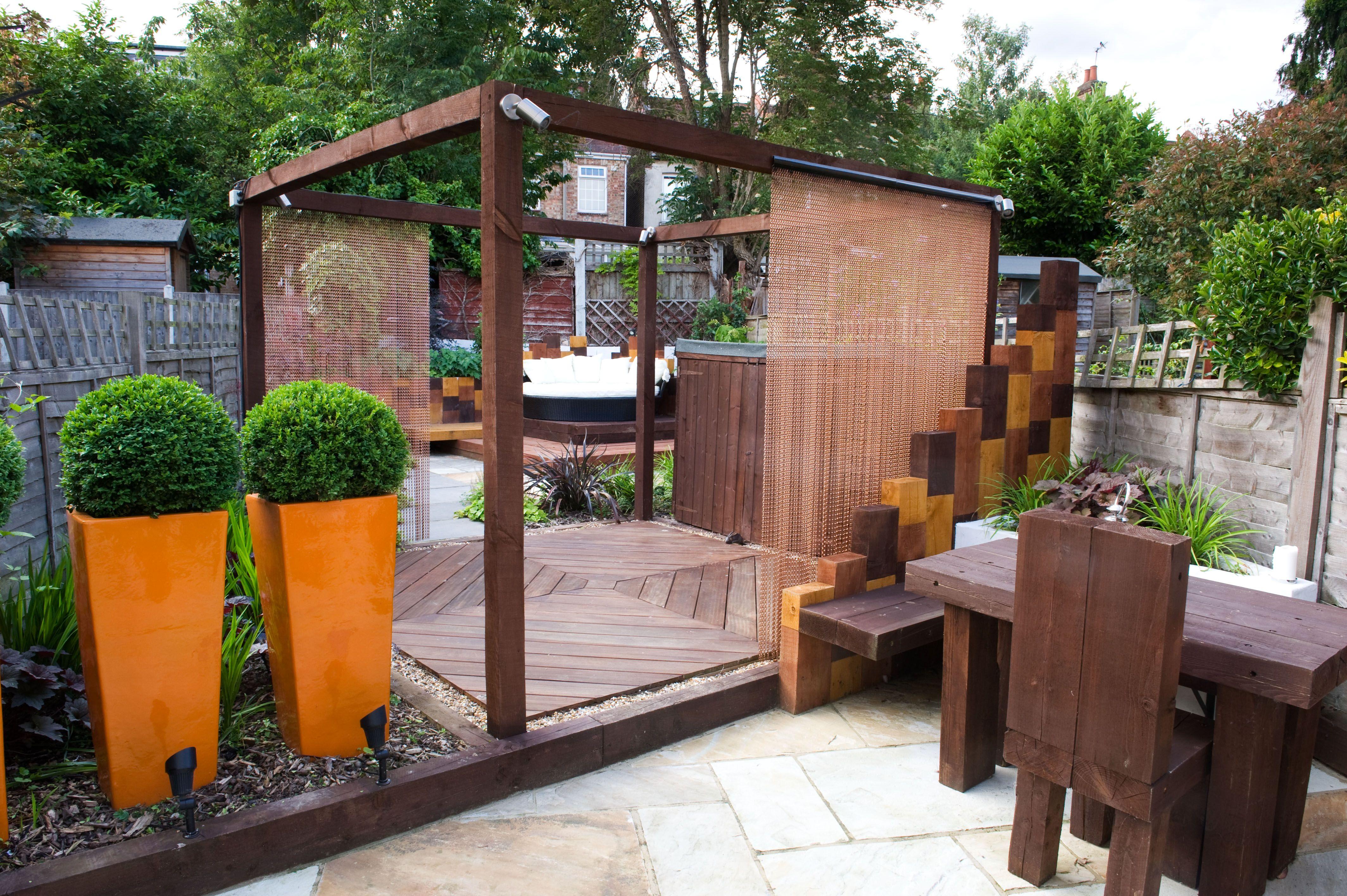 Modern Town Garden East London | Terrace garden design ...