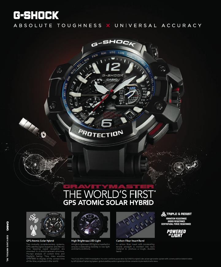współczesna reklama zegarków Casio