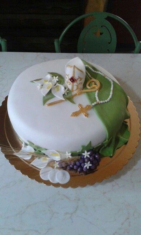 Torta santa cresima cakes nel 2019 bolo comunh o bolo for Decorazioni torte per cresima