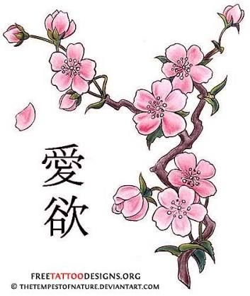 Image Result For How To Draw A Cherry Blossom Tree Step By Step Tatueringsideer Korsbarsblom Korsbarsblomma