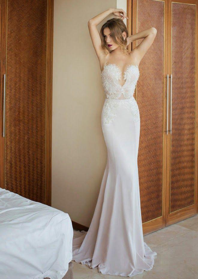 Designer-Brautkleider-Meerjungfrau Stil, tailliert mit Herz ...