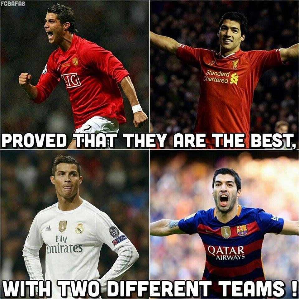 Cristiano and Suarez!
