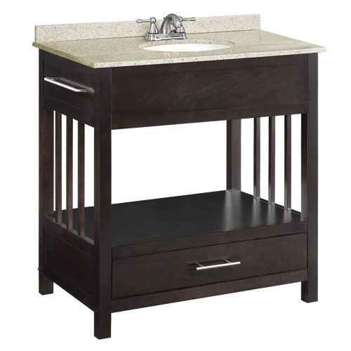 Ventura 30 Inch Espresso Console Vanity Cabinet Without Top With