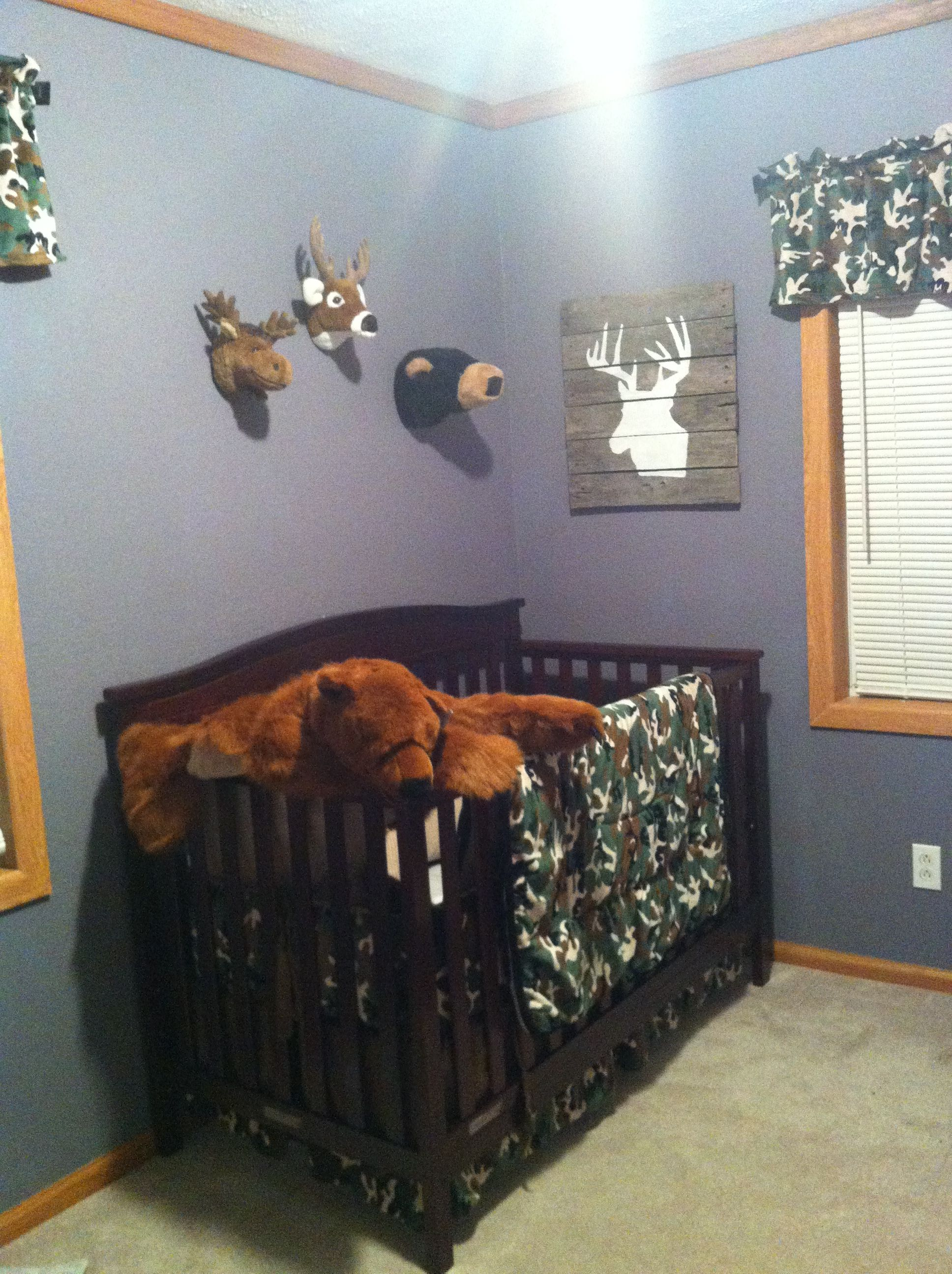 Oh How This Makes Me Want Another Boy Perfect For Bryan S Offspring Lol Baby Boy Rooms Camo Baby Room Camo Baby Stuff Baby camo bedroom decor