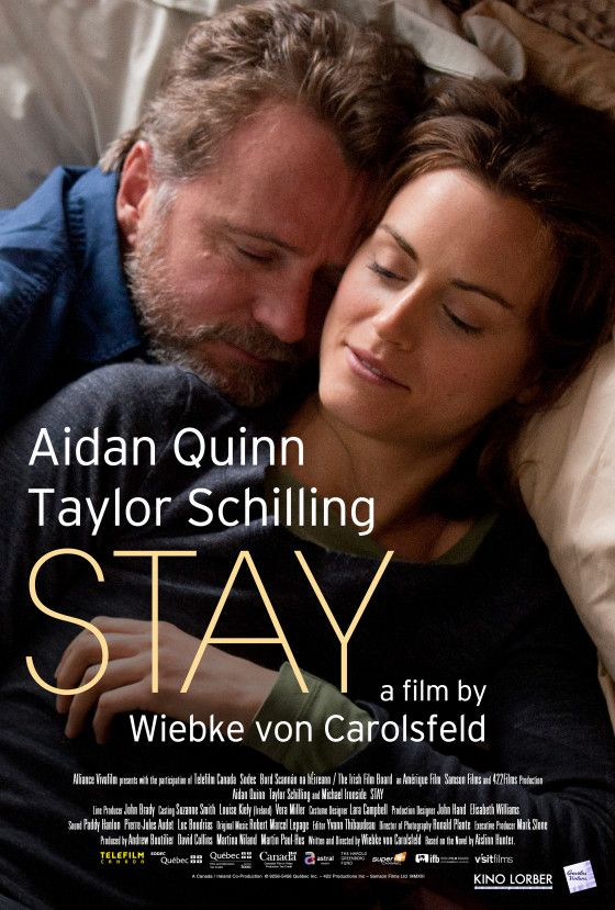 Stay Poster And Trailer Features Taylor Schilling And Aidan Elementary Cbs Aidan Quinn Taylor Schilling Movies To Watch