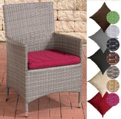Poly-Rattan Garten-Stuhl JULIA, Aluminiumgestell, bis zu 5 Rattan