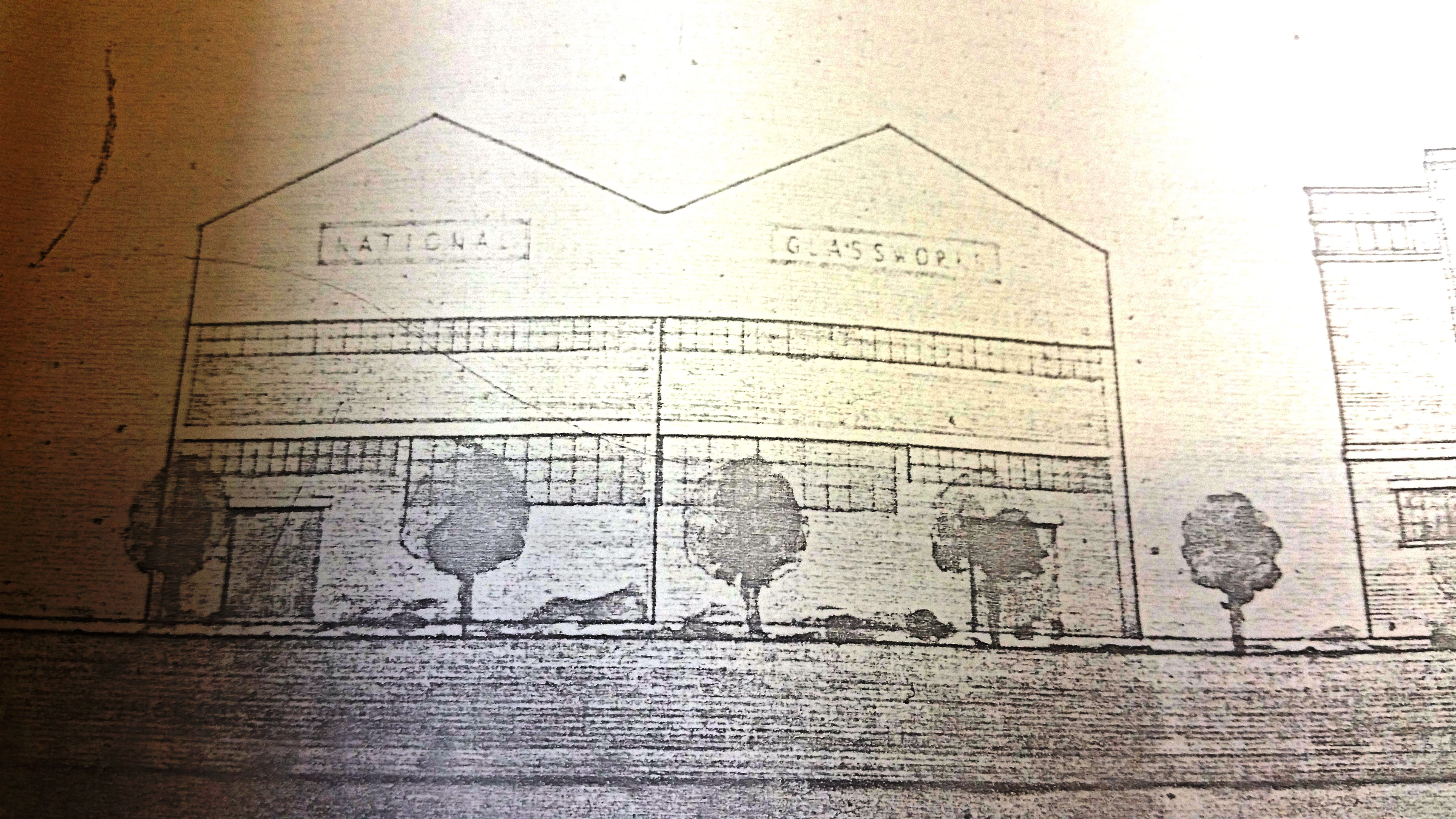 A plan of the Redfearn National Glass Co. factory (RED)