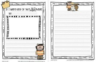 Sailing Through 1st Grade: free writing for Wild Things