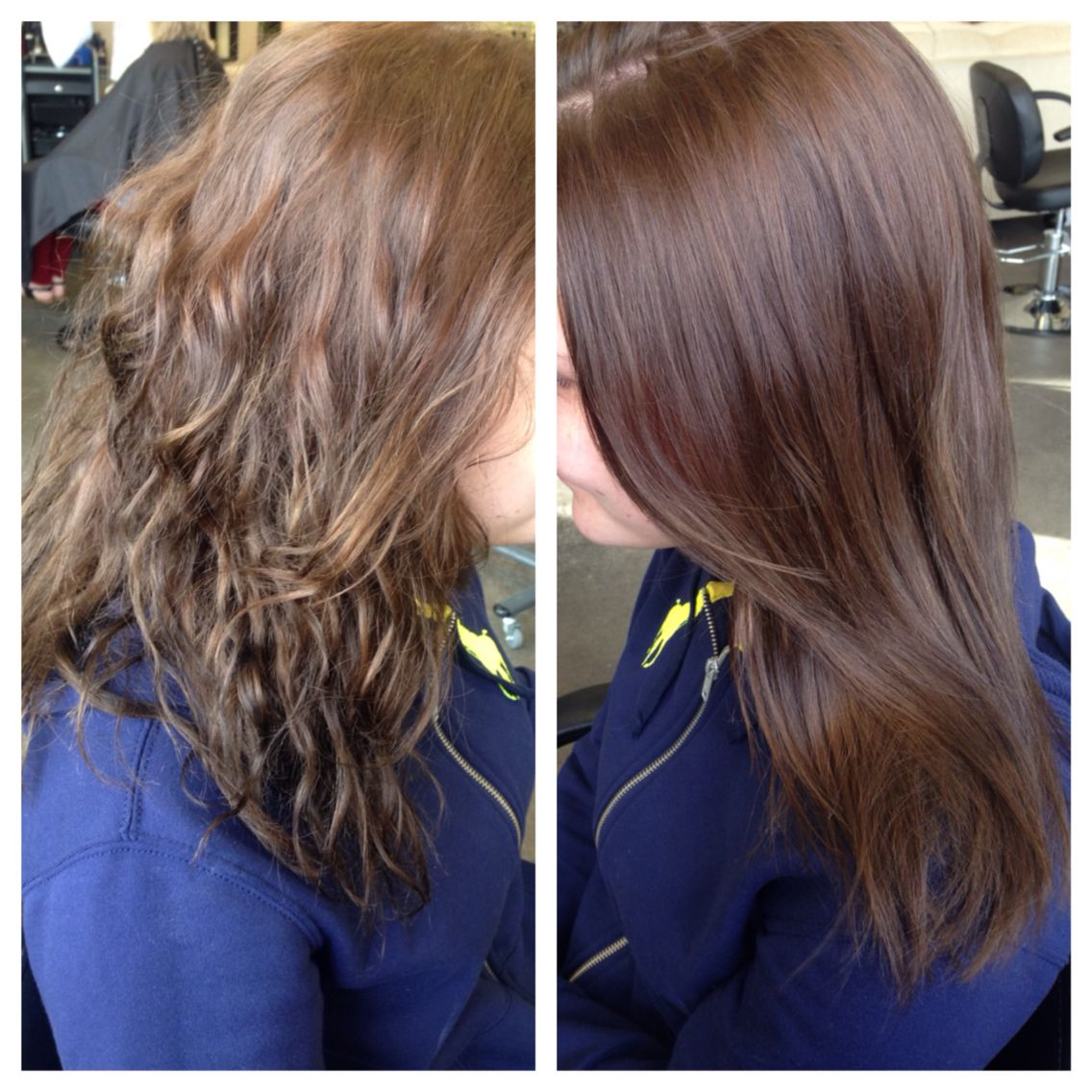 Brazilian Blowout before and after is just blown dry! No