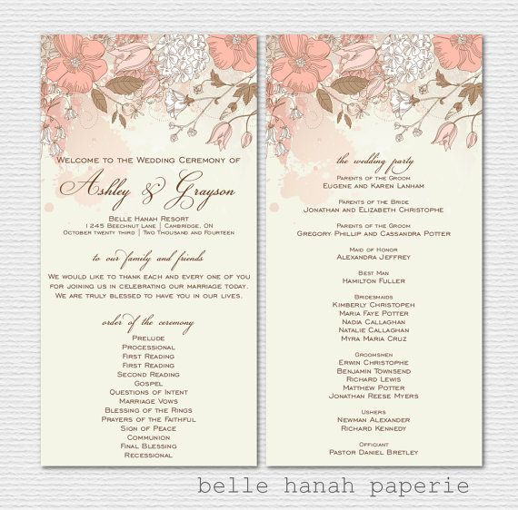 Blush Floral Baby Shower Welcome Sign Template Editable Etsy Printable Wedding Programs Wedding Programs Vintage Wedding Ceremony Programs