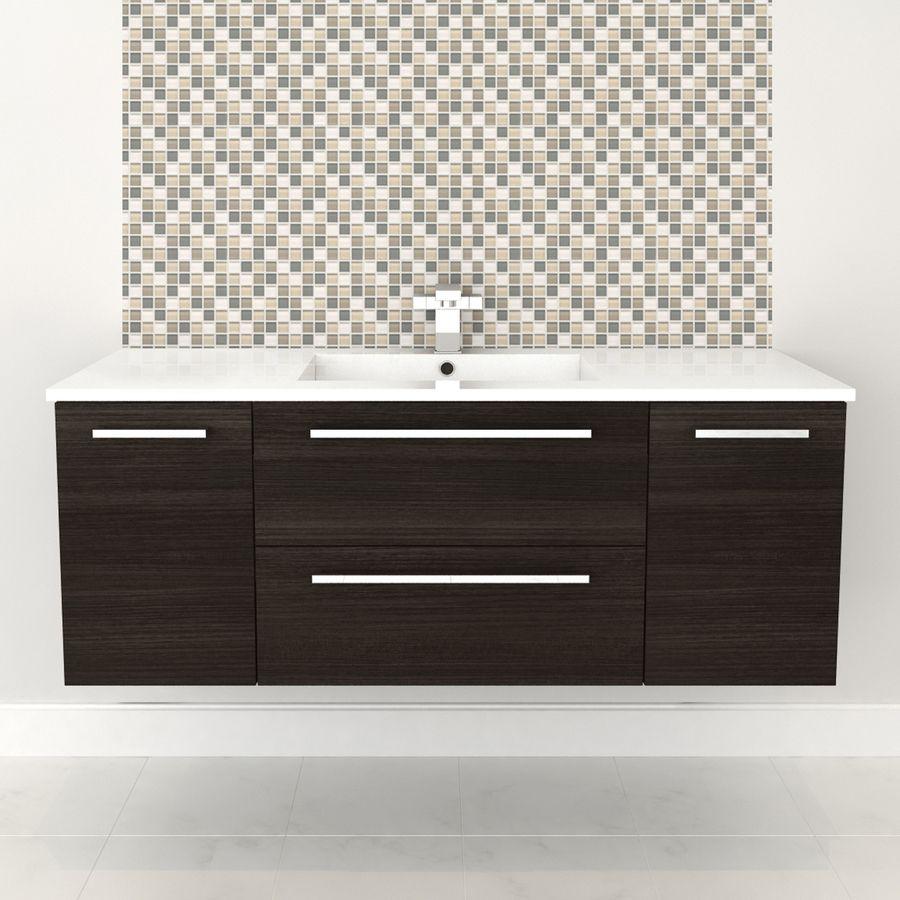 Cutler Kitchen Bath Silhouette Dark Chocolate Single Sink Vanity With White Cultured Marble Top Common 46 In X 18 In Lowes Com Wall Hung Vanity Single Sink Bathroom Vanity Vanity