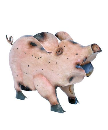 Pink Rustic Pig Sculpture By Georgetown Home And Garden On #zulily Today!