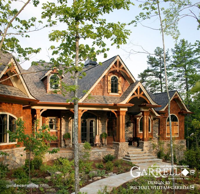 Tranquility 04159 Garrell Associates Inc House Exterior Rustic House Luxury House Plans