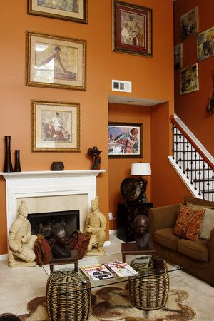 Bedroom Designs Orange And Brown terracotta orange colors and matching interior design color