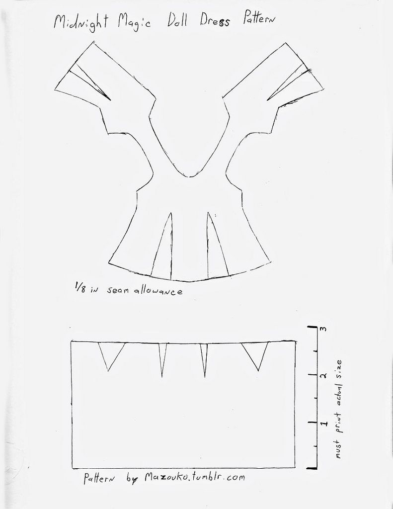 Midnight Magic Doll Dress Pattern | Kinderkram