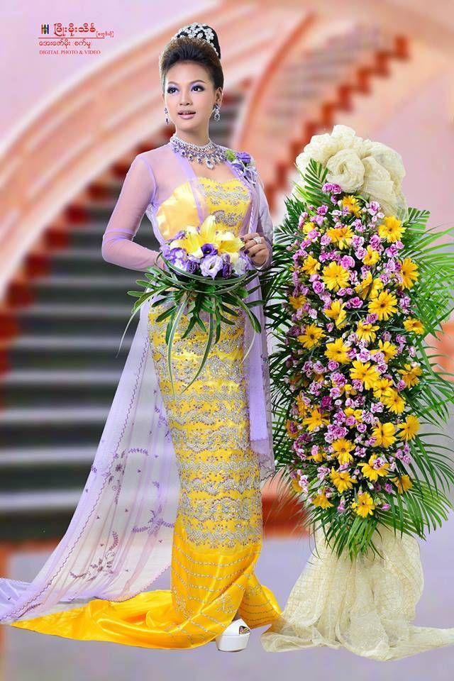 Burmese wedding dress | Burmese Dress | Pinterest | Burmese, Wedding ...
