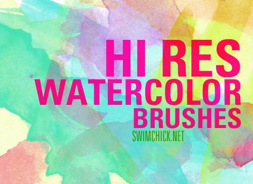 Free Hi Res Watercolor Brushes By Zerofiction On Deviantart