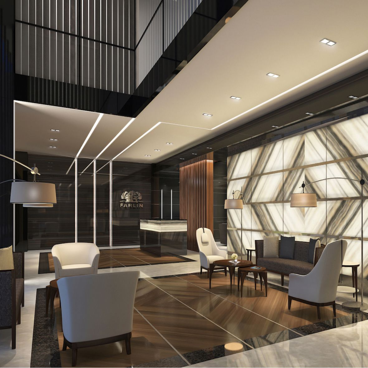 modern office interior design Come get amazed by the best hotel reception and lobby lighting inspiration. See more pieces at