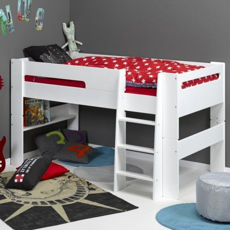 lit mi hauteur modulable 90x190 new chambre thib. Black Bedroom Furniture Sets. Home Design Ideas