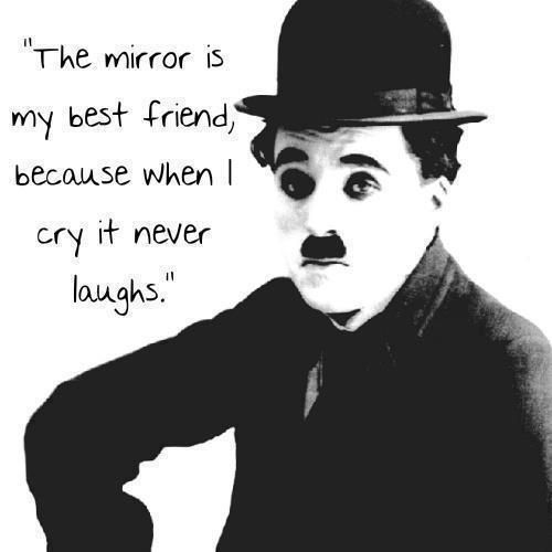 "The Sad Clown :) ""The Mirror Is My Best Friend, Because"