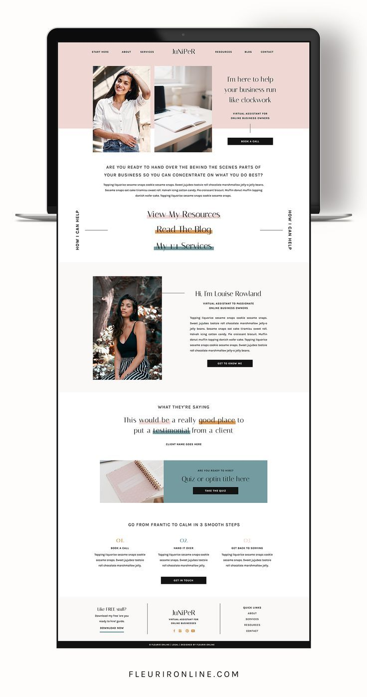Juniper Showit Website Template