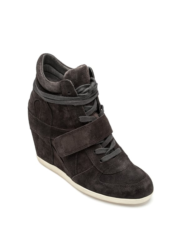 c61cb6de3502 Ash Bowie Wedge Sneaker Bistro Suede -Bistro color -Lace-up vamp with hook
