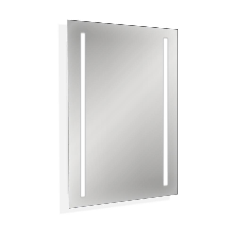 Home Decor Capri 32 In X 23 6 8 In Backlit Wall Mounted Led Makeup Or Vanity Mirror Silver Vanity Mirror Lighted Vanity Mirror Mirror