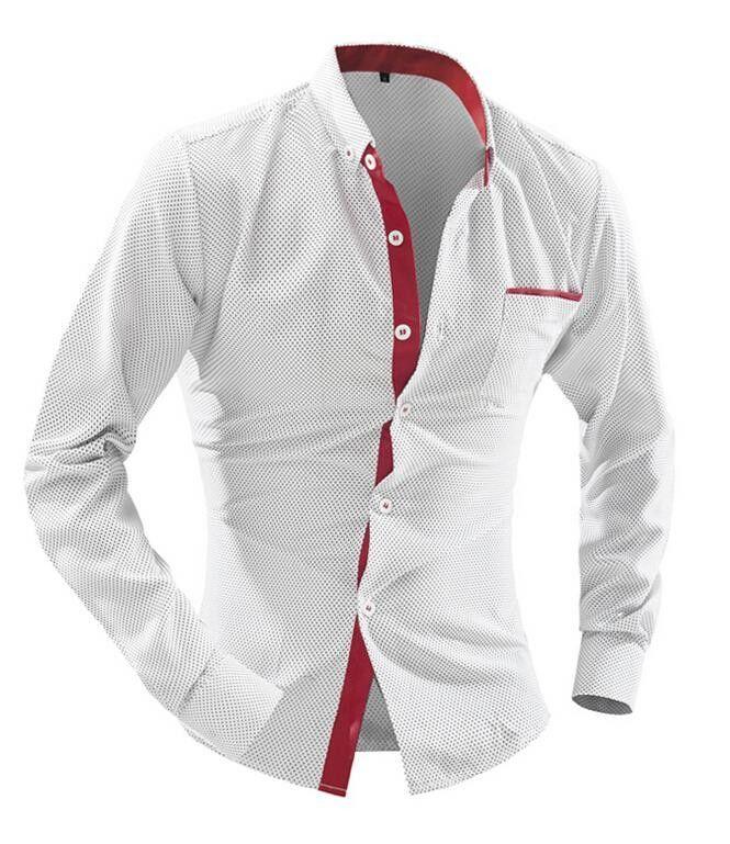 Long-Sleeve Men's Fashion Business Dress Shirt L-2XL 6 Colors