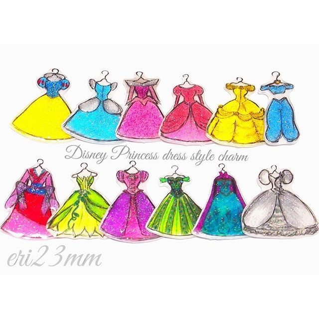 mulpix Disney Princess dress style charm♡ 前回のpicに