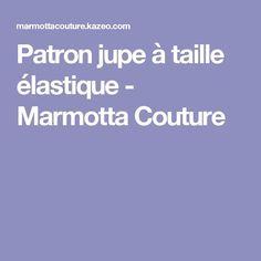Patron jupe à taille élastique - Marmotta Couture